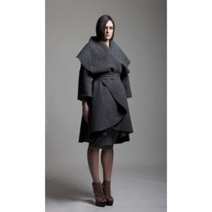 Nadia Tarr Wool Blend Blanket Coat